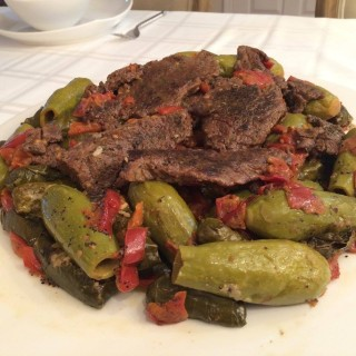 Stuffed Grape Leaves and Zucchini (WARAQ ENAB and KUSSA with LAMB)