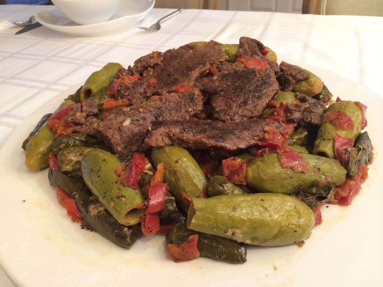 Stuffed Grape Leaves with Zuchinni